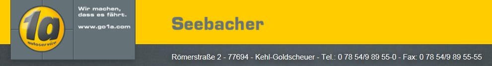 1a Autoservice Seebacher Goldscheuer