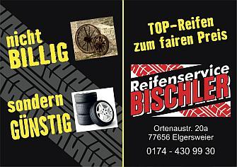 Reifenservice Bischler, Tel. 0174 430 99 30